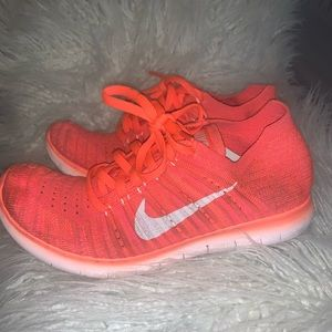Neon Orange Nike Free size 7